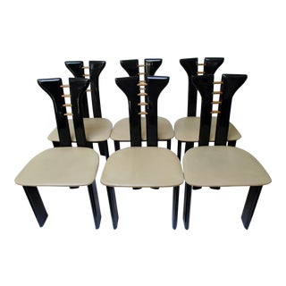 Vintage Italian Dining Chairs, Set of 6 For Sale
