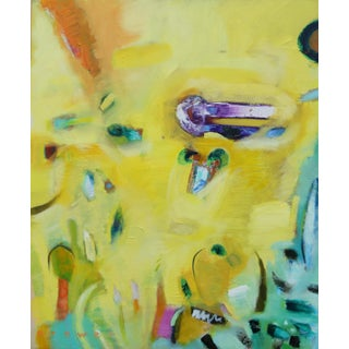 """""""It's Hot"""" Contemporary Abstract Expressionist Oil Painting For Sale"""