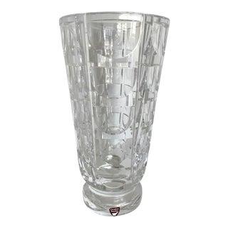 "Simon Gate for Orrefors ""Thousand Windows"" Crystal Vase For Sale"