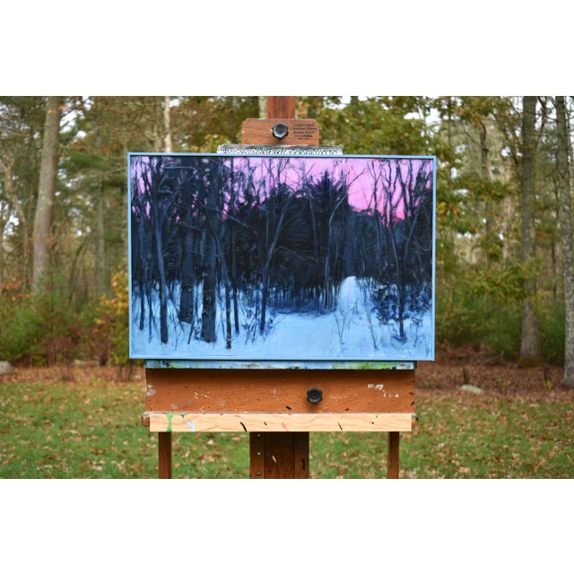"""""""Snowy Intersection at Dawn"""" Contemporary Acrylic Painting by Stephen Remick, Framed For Sale - Image 10 of 12"""