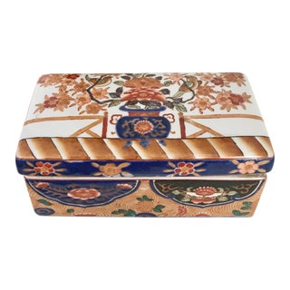 Imari Style Trinket Porcelain Box For Sale