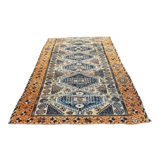 1960s Persian Handmade Tabriz Runner-4′11″ × 9′10″ For Sale