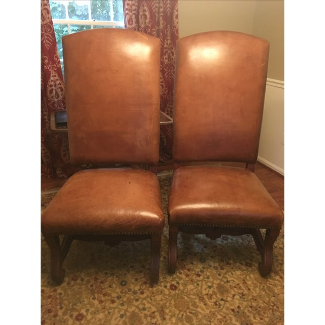 Ralph Lauren Leather Dining or Accent Chairs - S/2 - Image 2 of 8