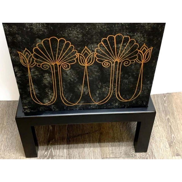 Grand Tour Style Polychromed Greek Motif Cabinet on Stand For Sale - Image 9 of 13