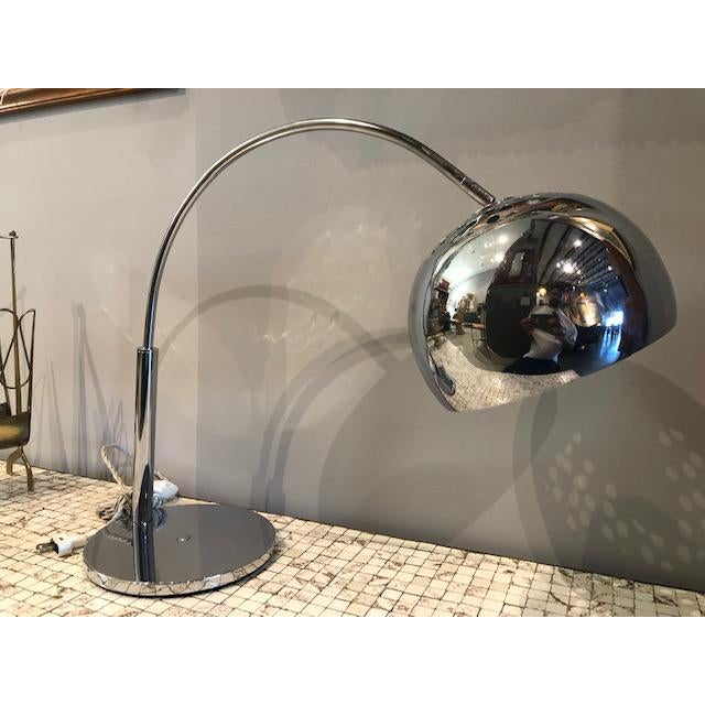 Great streamline chrome lamp, Very well made, it is a substantial, high-quality lamp made of chromed metal. The signature...