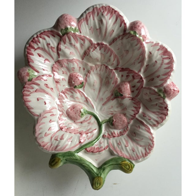 Vintage Strawberry Faience Dishes-Neuwirth - a Pair - Image 4 of 7