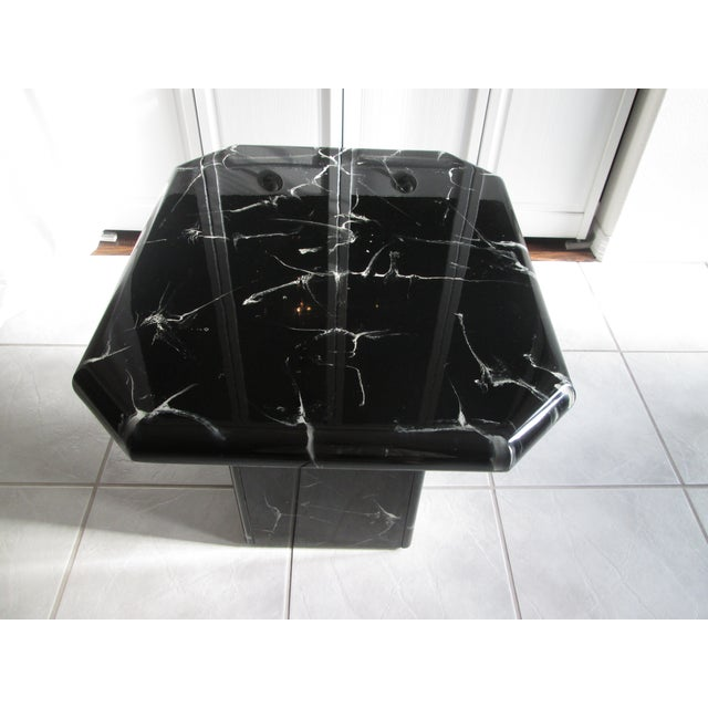 Retro Lacquered Marble Design Side Tables - A Pair - Image 5 of 8