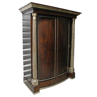 1990s Hollywood Regency Maitland Smith Dry Bar Cabinet For Sale