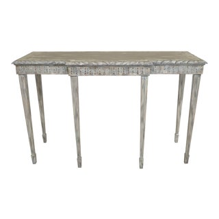Maitland Smith Shabby Chic Painted Console Table For Sale
