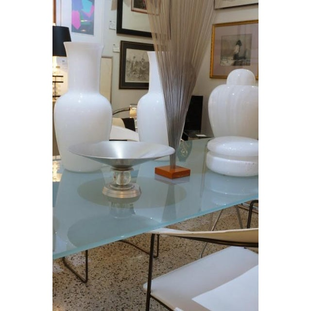 """Vintage Art Deco 1934 Kensington for Lurelle Guild """"Stratford"""" Compote in Aluminum and Glass For Sale - Image 12 of 12"""