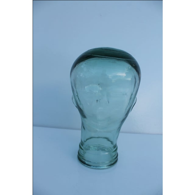 Molded Light Green Glass Head - Image 4 of 9
