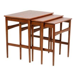 Hans Wegner Nesting Tables by Andreas Tuck For Sale