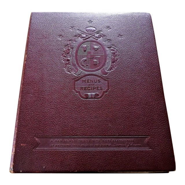 1930s Leather Bound Grocery Store Cookbook - Image 1 of 9