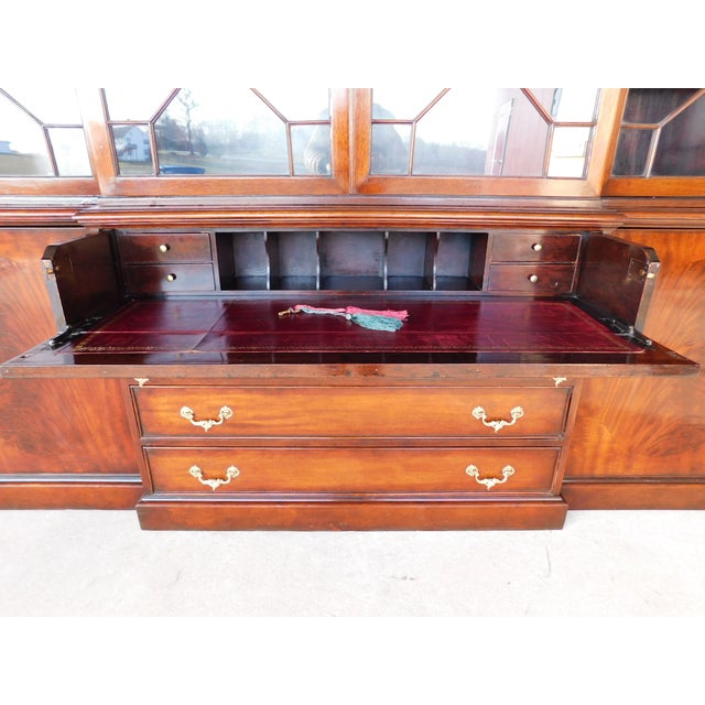 Features Fine Quality Hand Constructed, Individual glass Top Section, Pull out Tooled Leather Top Writing Surface,...