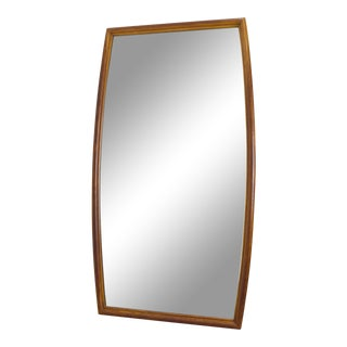Large Mid-Century Walnut Mirror, Mt. Airy for John Stuart For Sale