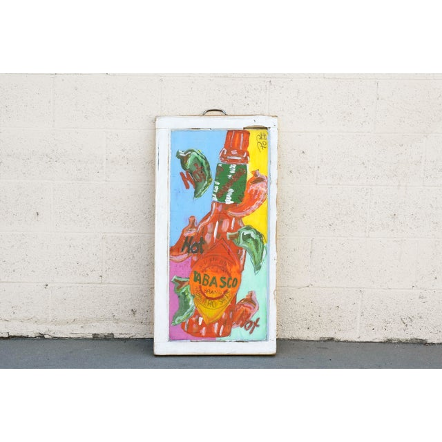 Tabasco Folk Art Painting by Popi Cotrell For Sale In Los Angeles - Image 6 of 6