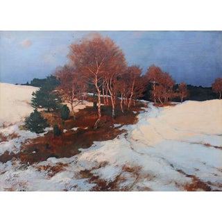 """""""Evening Glow"""" Landscape Oil Painting For Sale"""