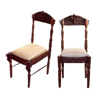 Pair of Anglo Indian Ceremonial Chairs For Sale