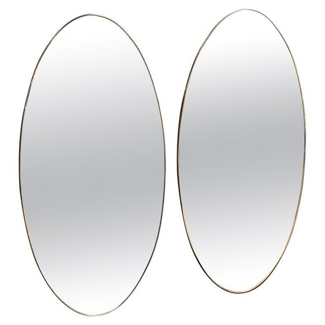 Oversize Oval Wall Mirrors, Italy, Late 1960s - a Pair For Sale - Image 10 of 10