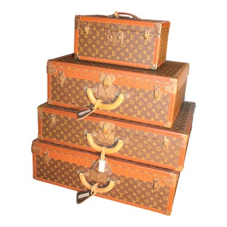 19th Century French Louis Vuitton Luggage- Set of 4 For Sale
