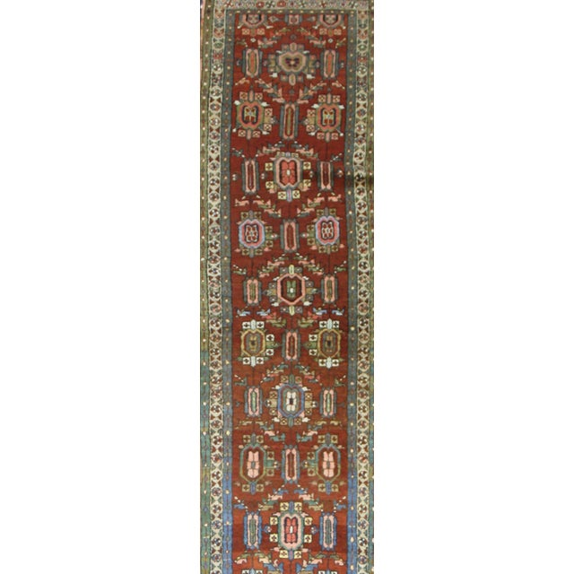 Distressed Antique Persian Heriz Runner - 02'05 X 17'03 For Sale In Dallas - Image 6 of 9