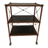Image of 20th Century Regency Theodore Alexander Painted Metal 3-Tier Table For Sale