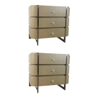 Caracole Modern Taupe Grace Nightstands Pair For Sale