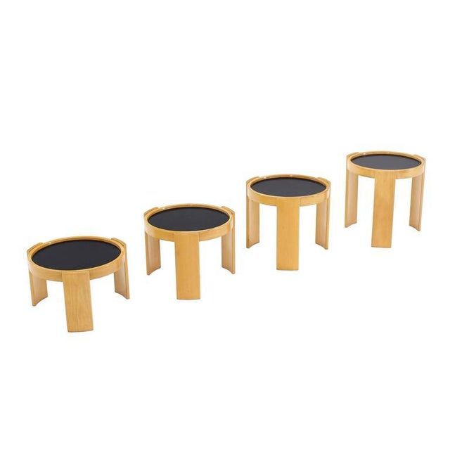 Cassina Cassina Set of Four Nesting Round Tables For Sale - Image 4 of 9
