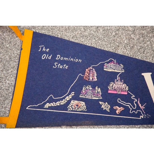 Virginia Old Dominion State Felt Flag - Image 2 of 3