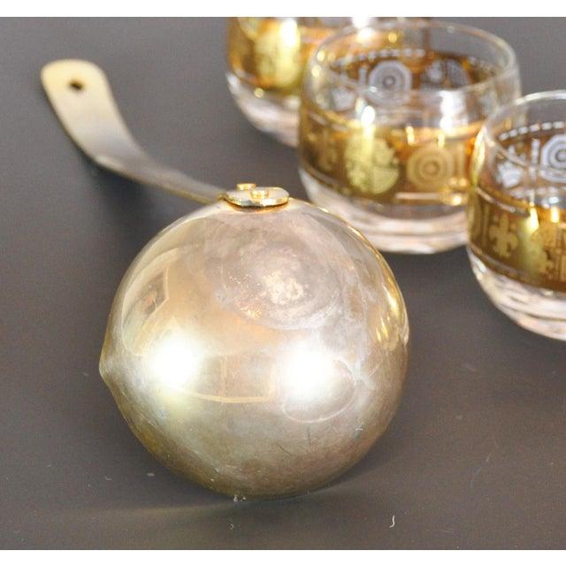 Gold Mid Century Modern Egg Nog or Punch Set - 10 Pieces For Sale - Image 4 of 5