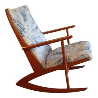 Georg Jensen Danish Modern Teak Rocking Chair For Sale