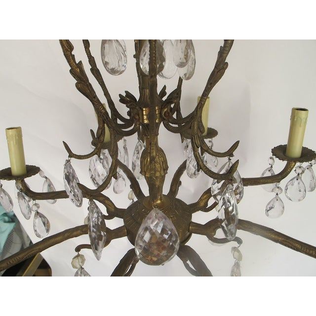 1950's Hollywood Regency Crystal Chandelier - Image 4 of 6