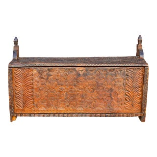 19th Century Swat Valley Trunk For Sale