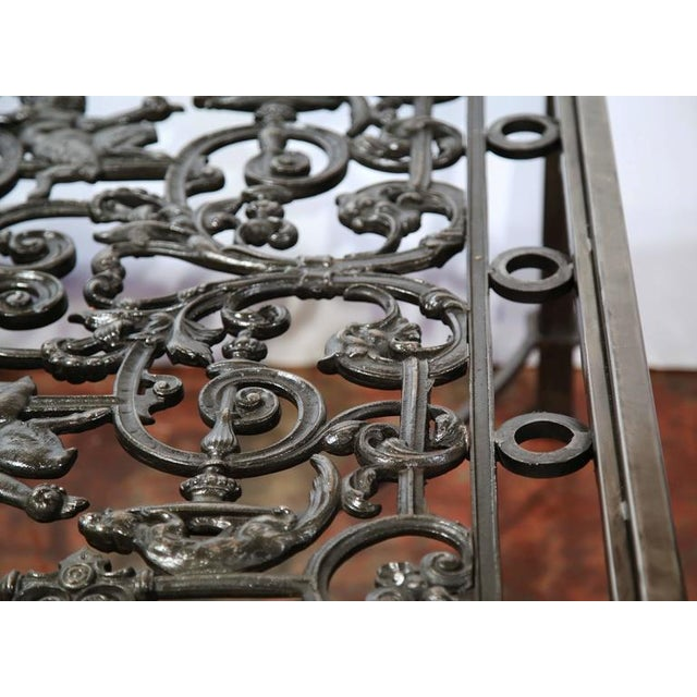 Polished Iron Coffee Table Base For Sale - Image 10 of 10