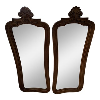 Mid-Century Wall Mirrors - a Pair For Sale