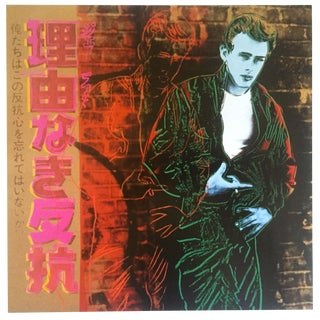 """Andy Warhol Estate Rare Vintage 1990 Collector's Pop Art Lithograph Print """" James Dean - Rebel Without a Cause """" 1985 For Sale"""