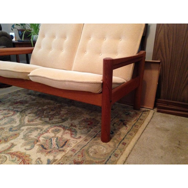 Danish Modern Domino Mobler Vintage Danish Modern Teak Loveseat For Sale - Image 3 of 6