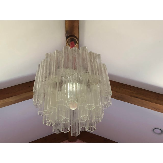 1930s Vintage Tronchi Murano Glass Chandelier For Sale - Image 5 of 5