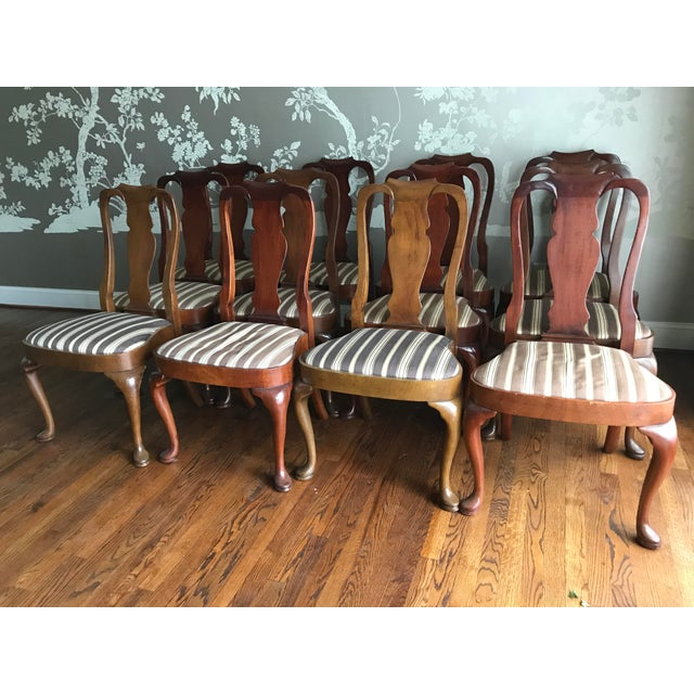 Armless Queen Anne Style Dining Chairs - Set of 12 - Image 2 of 6
