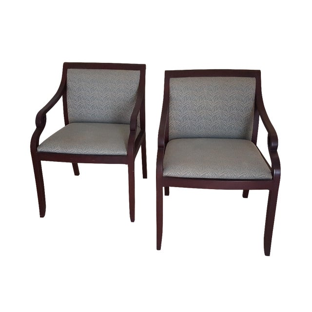 David Edward Accent Chairs - A Pair - Image 1 of 7