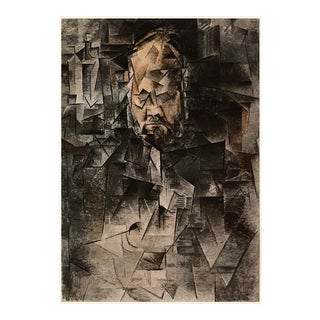 """1954 Pablo Picasso """"Portrait of A. Vollard (1909-1910)"""", First Italian Edition Period Lithograph For Sale"""