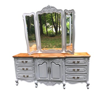 Bernhardt Country French Triple Dresser With Mirror For Sale