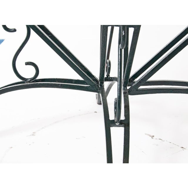 Wrought Iron Garden Table For Sale - Image 4 of 7