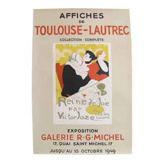 1949 Affiches de Toulouse-Lautrec Exhibition Poster