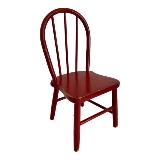 Little Red Childs Christmas Chair For Sale