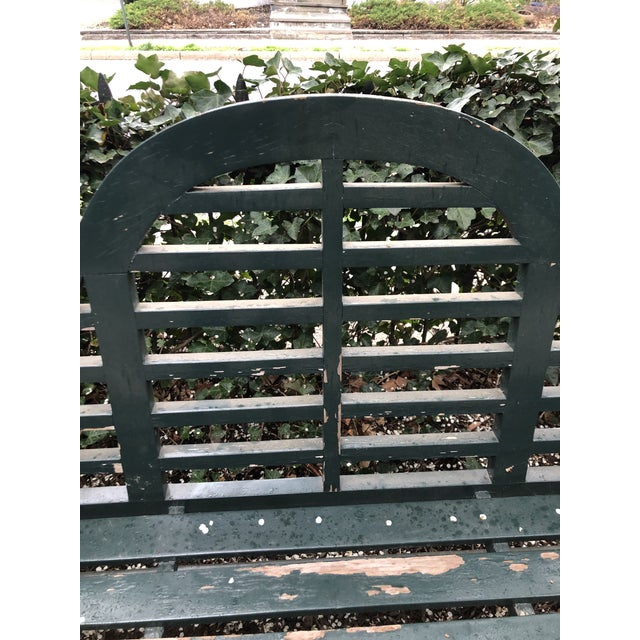 Traditional English Edwardian Lutyens Style Bench in Teak For Sale - Image 3 of 10