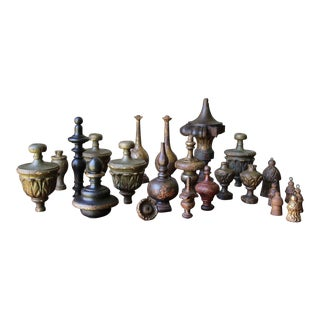 Architectural 18th Century Baroque Finials - Set of 23 For Sale