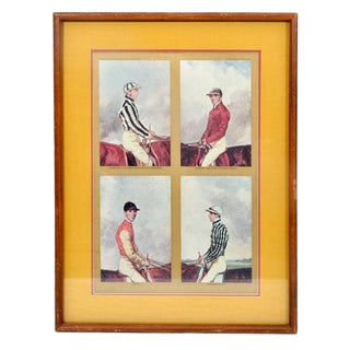1972 Vintage The Jockey Club Newmarket Engraving Print For Sale