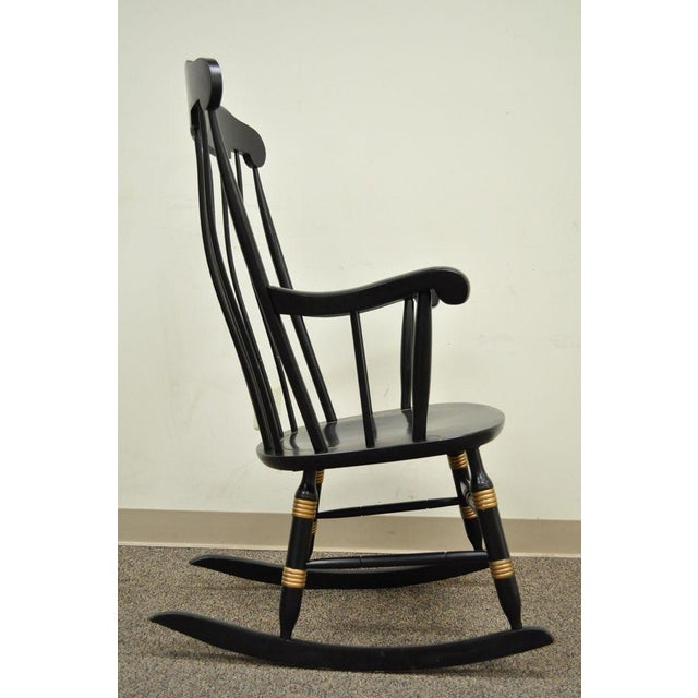 Vintage Sigill College University Nichols & Stone Windsor Rocking Chair For Sale In Philadelphia - Image 6 of 11
