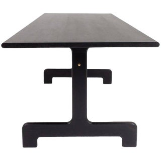Asa Pingree Physalia Dining Table in Ebonized Maple For Sale